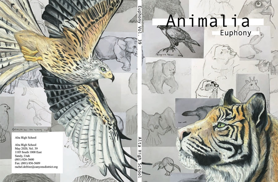 This+year%27s+Euphony+cover+features+the+art+work+of+Bryn+Parkinson+designed+around+the+theme+%22Animalia.%22