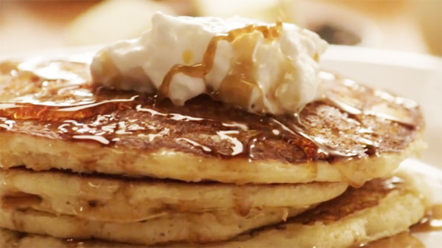 Fluffy and light, these pancakes are sure to please.