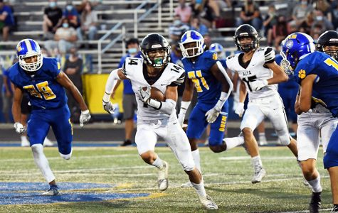 The offense takes charge against Orem in last week's game.