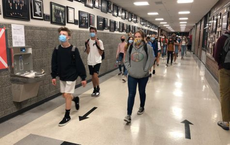 Students social distance and wear masks to keep Alta safe as students came back for in-person classes this year.