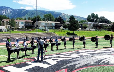 The Marching Band worked all summer to develop their routine to the theme