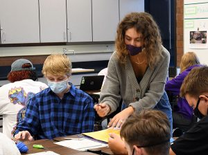 Ms. Marty helps students gain deeper understanding about the world around them.