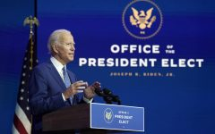 President-elect Joe Biden speaks following Friday's announcement that he had the required electoral votes to beat President Donald Trump.