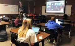 Students meet on the hybrid schedule both virtually and inperson.