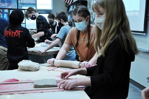 Students enjoy their in-class ceramics experience much more than online ceramics.