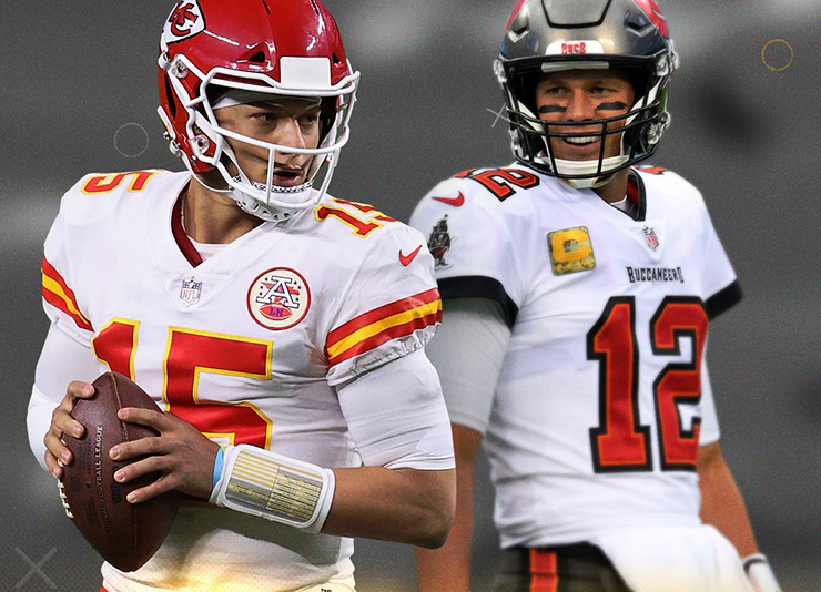Patrick Mahomes and Tom Brady will face off in this year's Superbowl February 7th.