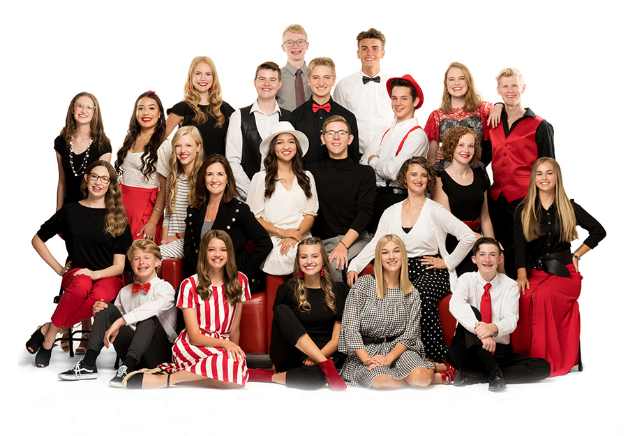 This year's Ballroom Team poses for their group portrait.
