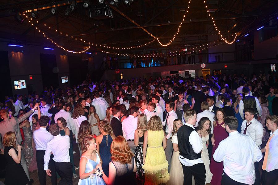 Students dance at the 2019 Junior Prom held in downtown Salt Lake City.
