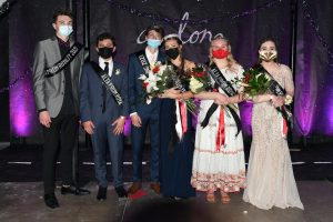 Cam Nielsen and Sophie Duncan were named this year's Junior Prom King and Queen; Ryan Watt, Mason Roberts, Chloe Engstrom, and Paige Blair were attendants.