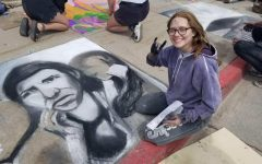Navigation to Story: Students Prep for the Art Department's Chalk the Walk