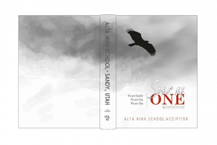 This year's cover featured a watercolor gray background with raised UV coating on other elements.