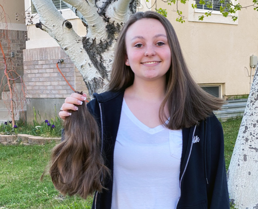 "Beth Sutherland cuts off her ""High School"" Hair for Locks of Love"