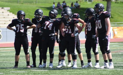 The 2020 JV football team preps for their next play against their opponent August 2020. With many seniors graduating, many from the JV team will step into key roles for the 2021`season this coming fall.