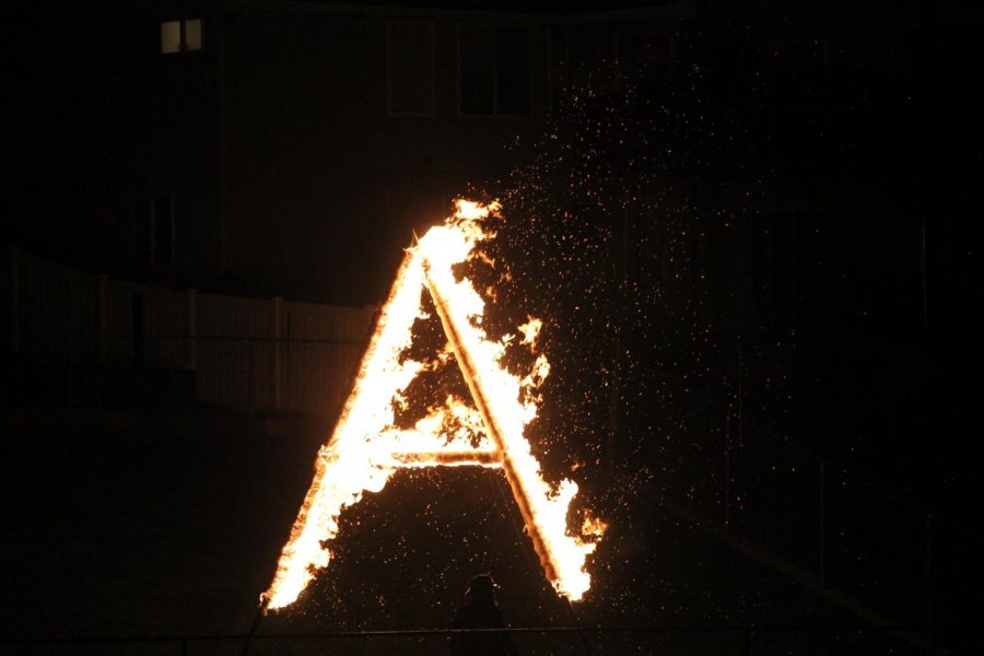 The traditional burning of the A will mark the end of this school year.