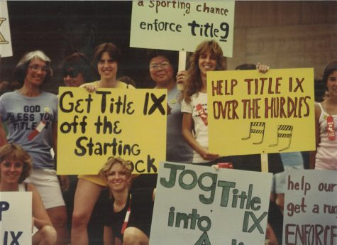 """This photo from the 2008 documentary """"License to Thrive: Title IX at 35"""" exposes inequalities between men"""