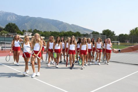 The girls tennis team is working hard and playing well these days. Its one match at a time until the Utah State 5A tournament.