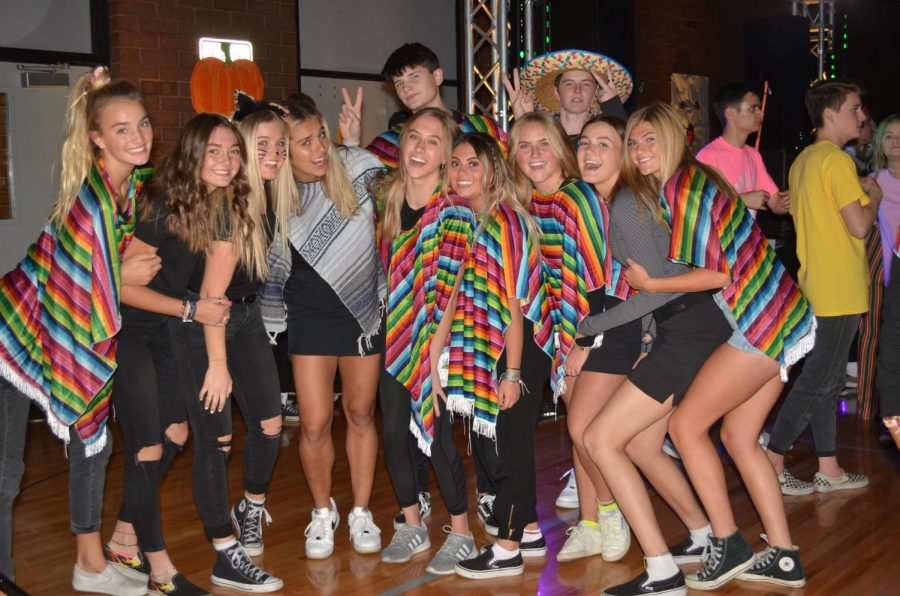 Students dress up for the 2019 Halloween Dance. Because of Covid, this dance was not held least year.