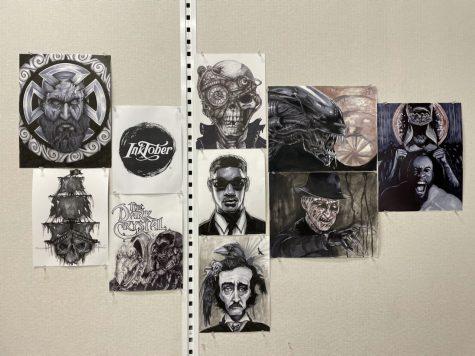 Art teacher David Weavers rendition of Inktober