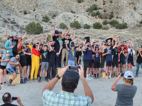 Alta riders celebrate a first place finish at last weekends race in Price.